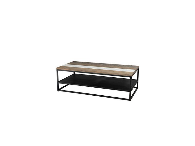 Table basse 120 cm en acacia et métal - danube