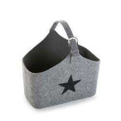 Porte revues en feutre gris étoile