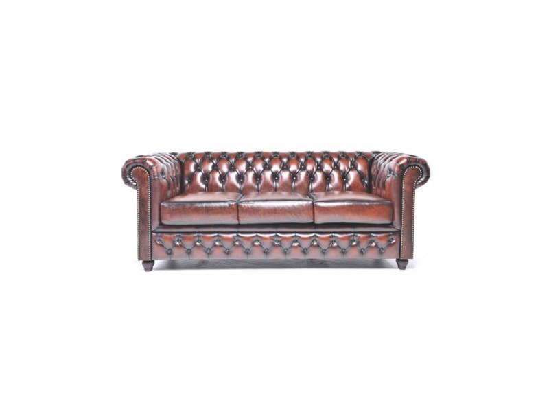 canap en cuir chesterfield original 3 places vente de canap droit conforama. Black Bedroom Furniture Sets. Home Design Ideas