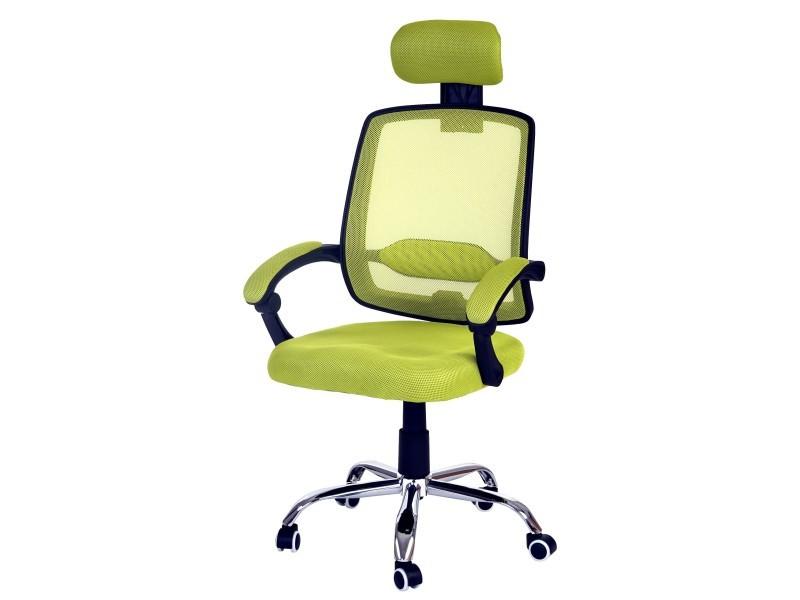 Fauteuil de bureau arendal chaise rotative appui tête accoudoirs