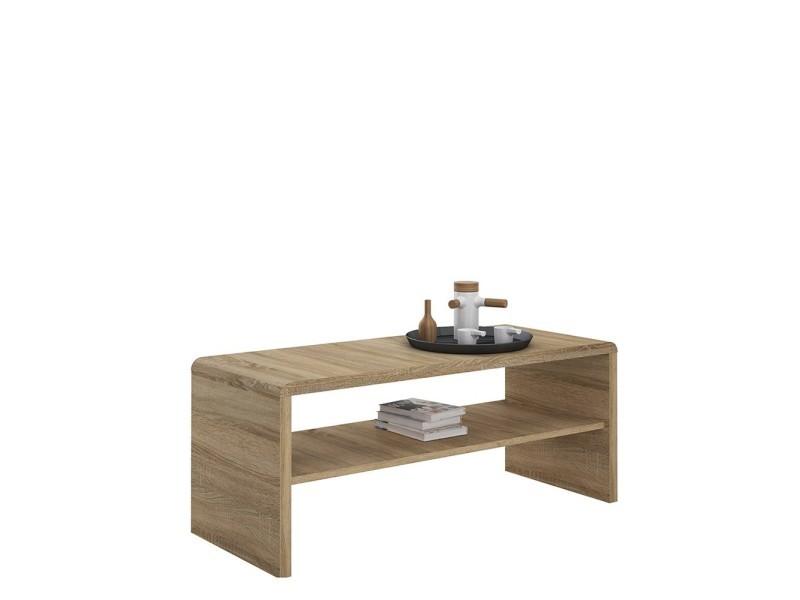 Table basse ou meuble de télévision julia - décor chêne sonoma