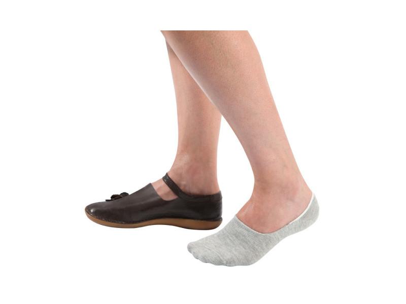 62879c2c8ae Chaussettes invisibles ultra courtes - lot de 3 37 41 - blanc gris et noir  - 37 41 - Vente de OSE - Conforama
