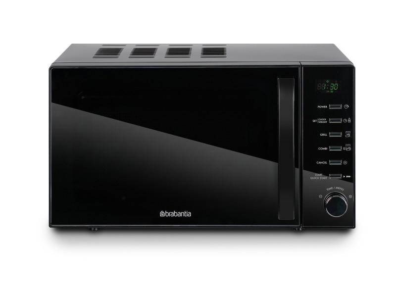 Brabantia bbek1145dg combi-micro-ondes - fonction gril - 700 watt - 13 programmes de cuisson - noir BBEK1145DG