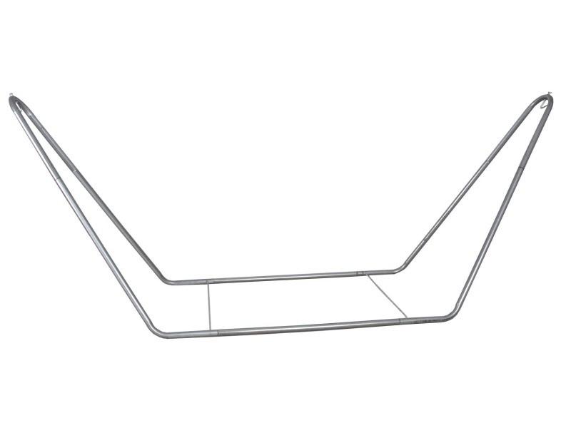 Support pour hamac en métal finition zinc