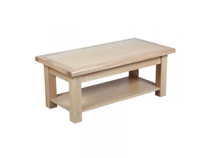 Table basse double plateaux - cympa - l 110 x l 55 x h 40 cm