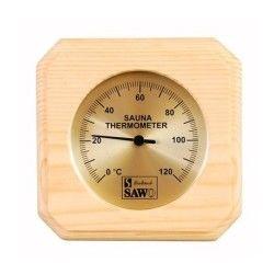 Thermomètre pour sauna sawo en pin