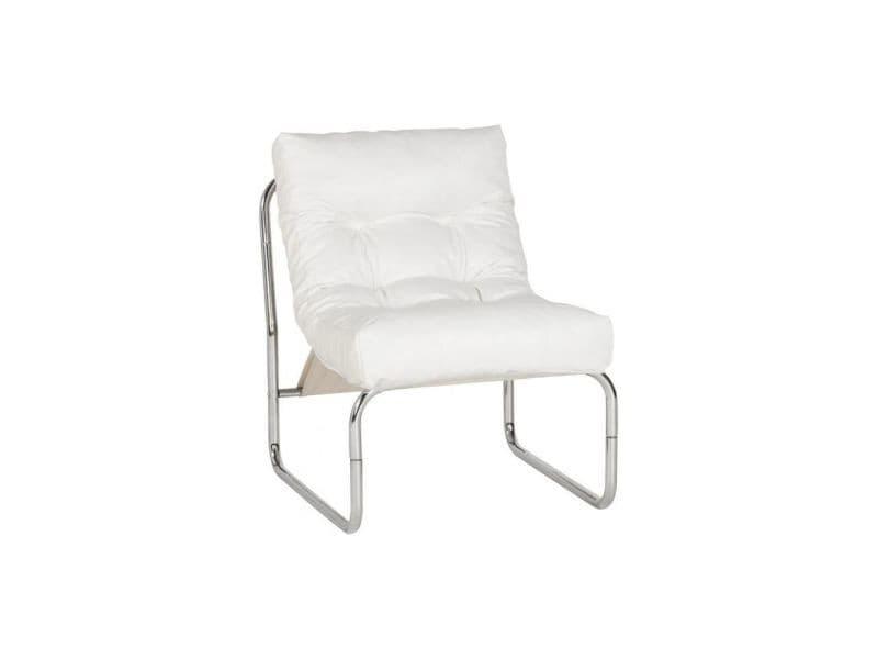 Fauteuil Design Simili Cuir Blanc Vente De KOKOON DESIGN Conforama - Fauteuil cuir blanc design