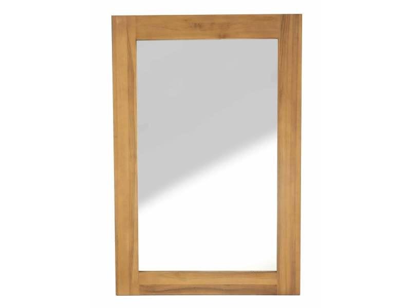 Miroir teck 80x120 cm spirit - Vente de Miroir de salle de bain ...