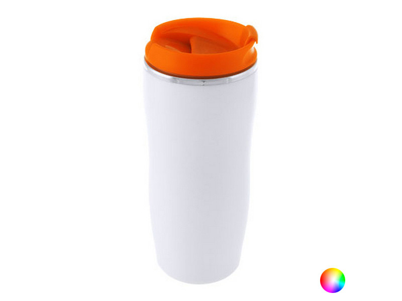 Tasses et thermos moderne couleur rouge verre en acier inoxydable (400 ml) 144508