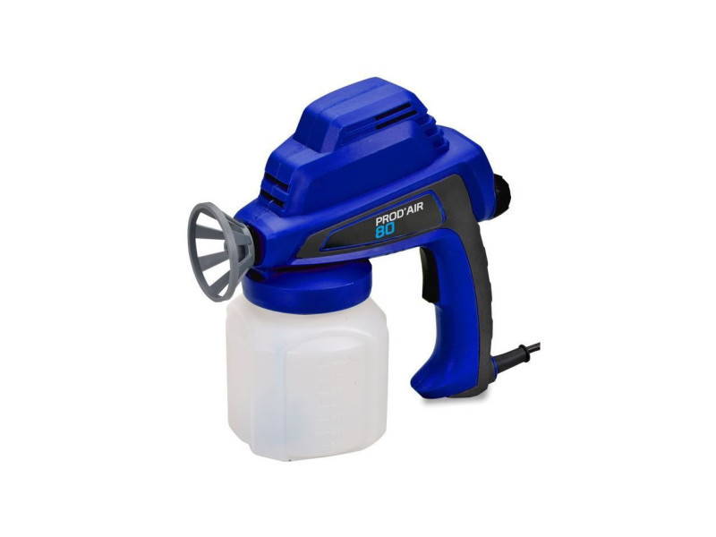Pistolet de pulvérisation prod'air 80 - haute pression - 80 w - bleu DOM3760040205328