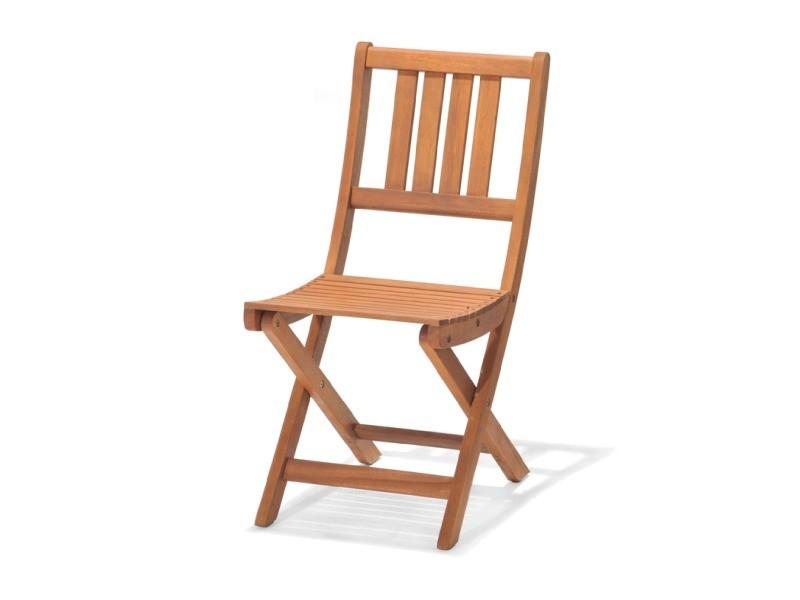 Chaise pliable bois acacia chillvert 60.00 x 55.00 x 85.00