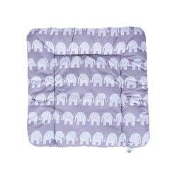 Matelas à langer 75 x 70 souple et lavable - eléphants