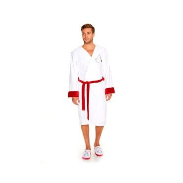 Groovy/  Adultes Assassins Creed Blanc Peignoir Robe de Chambre ou Chaussons