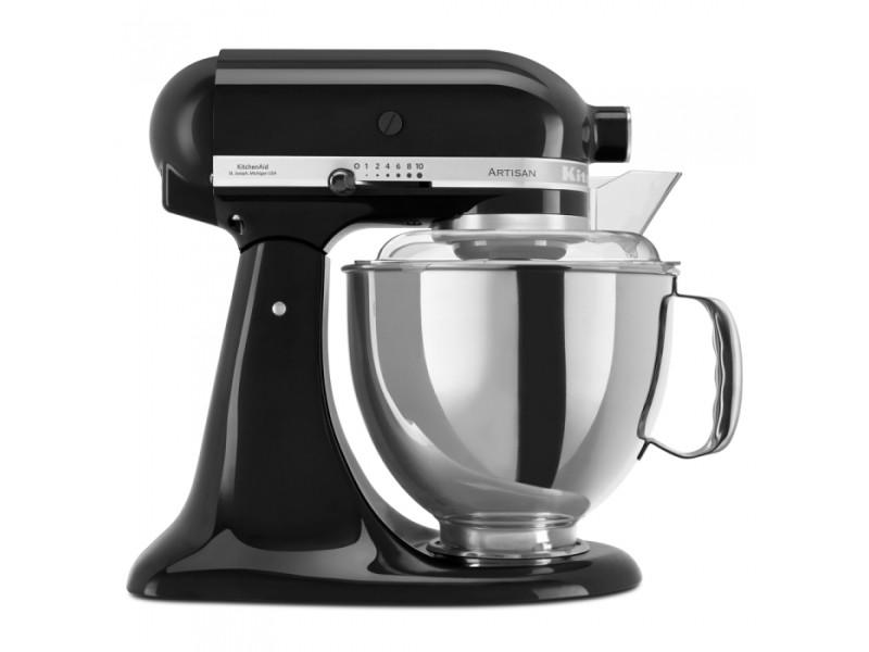 Robot pâtissier multifonction à tête inclinable 4.8 l artisan kitchenaid noir onyx CDP-5KSM175PSEOB