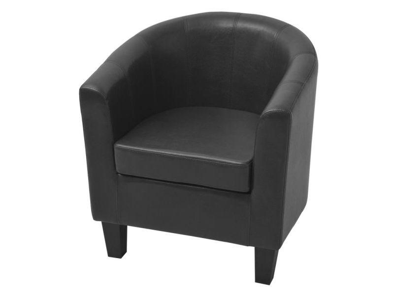 Icaverne - fauteuils club, fauteuils inclinables et chauffeuses lits gamme fauteuil cuir artificiel noir