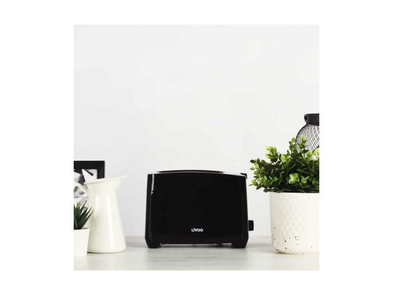 Livoo dod162n grille-pain - noir DOM3523930091810
