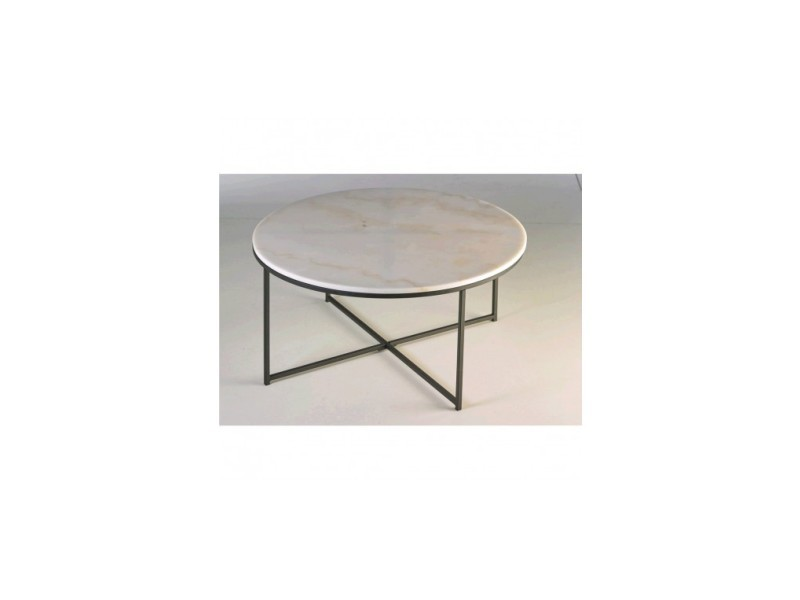 Table basse plateau rond marbre cycles