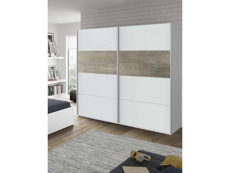 Armoire à deux portes coulissantes, coloris blanc, 117 x 180 x 200 cm 8052773559065