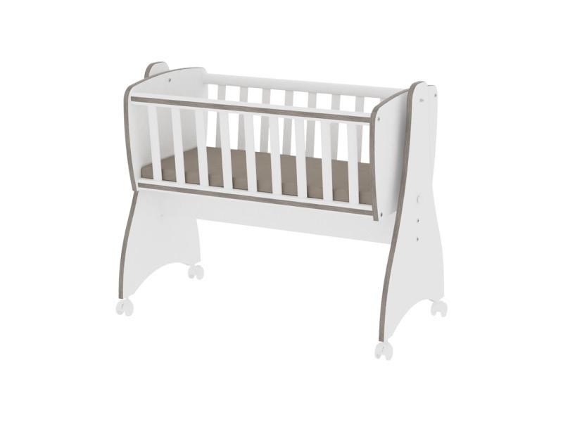 Berceau bébé lit évolutif mode bascule first dreams blanc café 10150550027 vente de lorelli conforama