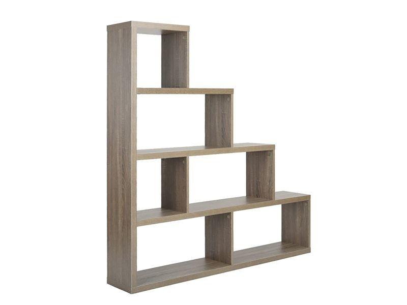 Clyde - etagère de rangement bois grisé - Vente de ALTOBUY - Conforama