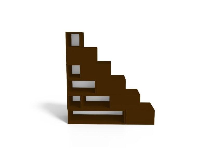 Escalier cube de rangement hauteur 150 cm mdf wengé ESCM150-W - Vente de Boîte de rangement ...