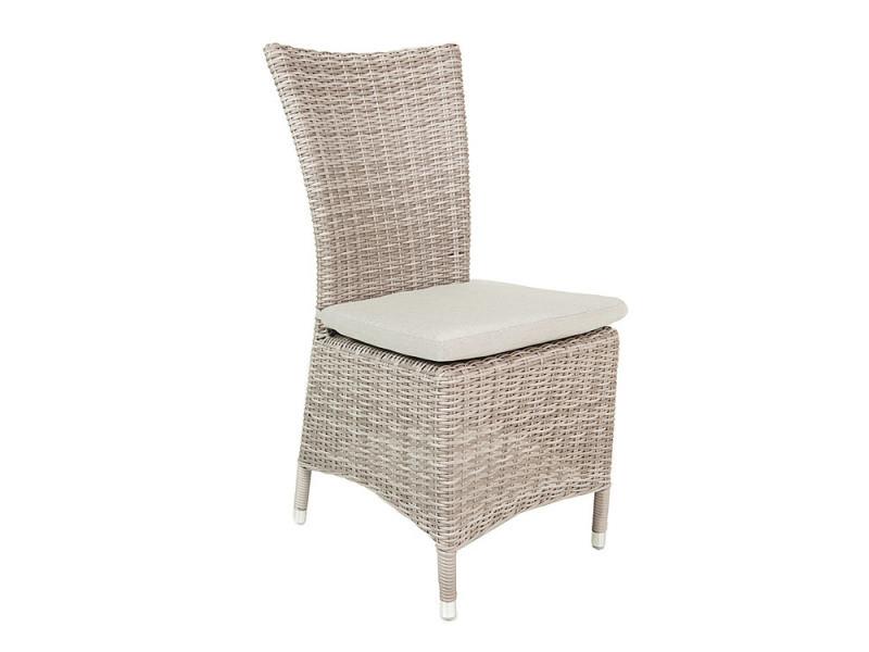Chaise en résine tressée 1/2 corde cappuccino utica