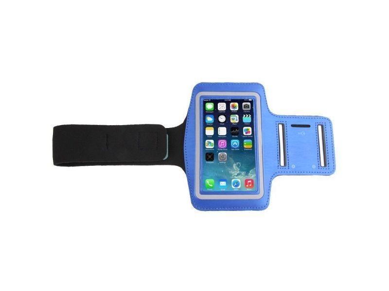 Brassard sport smartphone universel tour de bras protection étanche iphone bleu - yonis