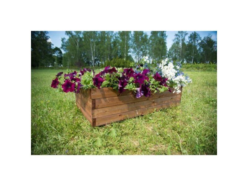 Jardiniere - bac a fleur bac a fleurs rectangulaire en sapin - 80 x 40 x h 27 cm