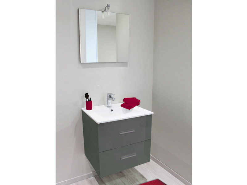 meuble suspendu 60 cm zo gris anthracite vasque. Black Bedroom Furniture Sets. Home Design Ideas