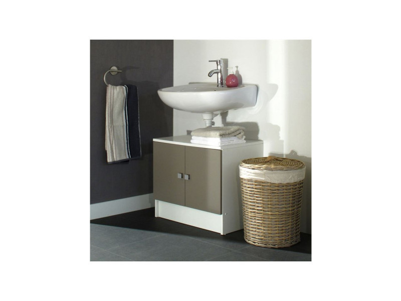 Meuble rangement wc conforama best superb meuble for Meuble bureau verre conforama