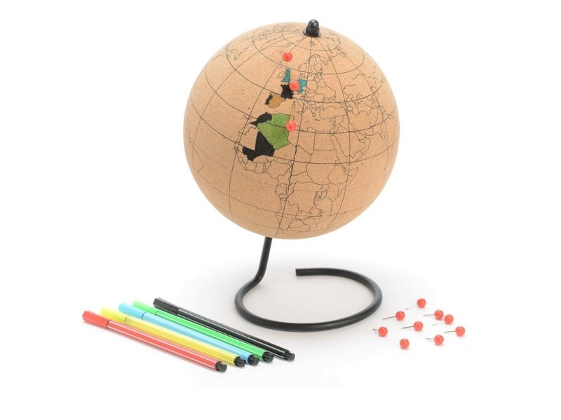 Globe terrestre en liège à colorier