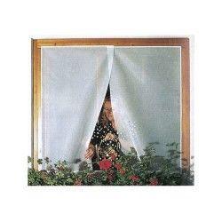 Moustiquaire souple 1 panneau blanc 100 x 130 cm
