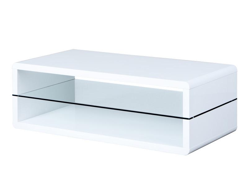 Table basse xono moderne blanc laqué