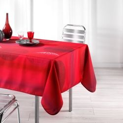 Nappe en polyester 150 x 240 cm kosmo rouge