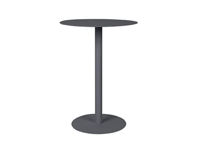 Table d 39 appoint en m tal elvi couleur gris 2300074 - Conforama table d appoint ...