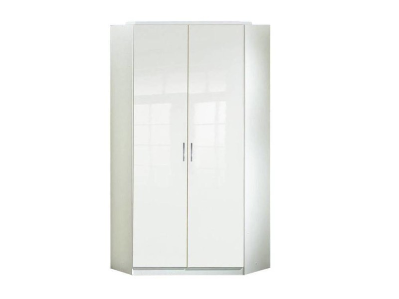 armoire d 39 angle cooper blanche avec 2 portes battantes 20100866098 vente de dressing conforama. Black Bedroom Furniture Sets. Home Design Ideas