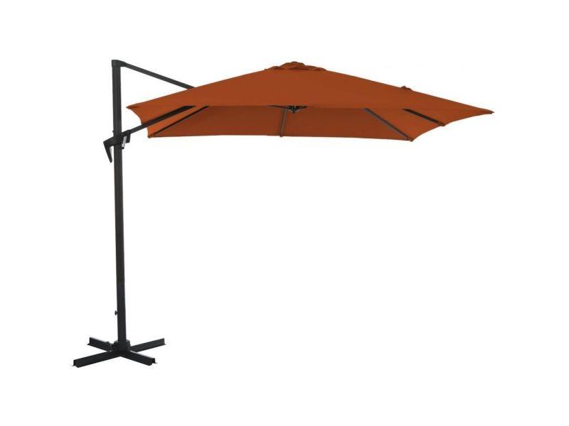 Parasol déporté carré en aluminium 3x3m roma