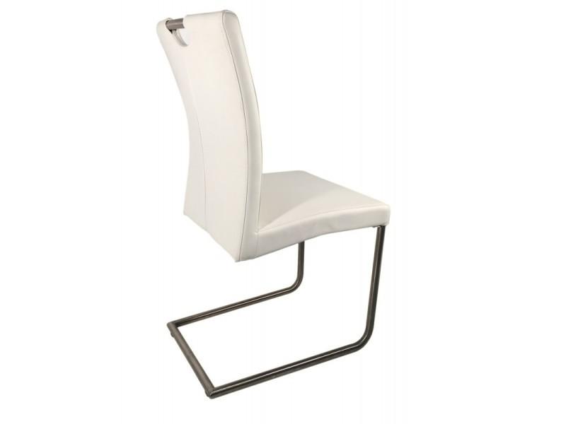 blanches en simili design chaises 2 adriana cuir Lot ASR4Ljqc35
