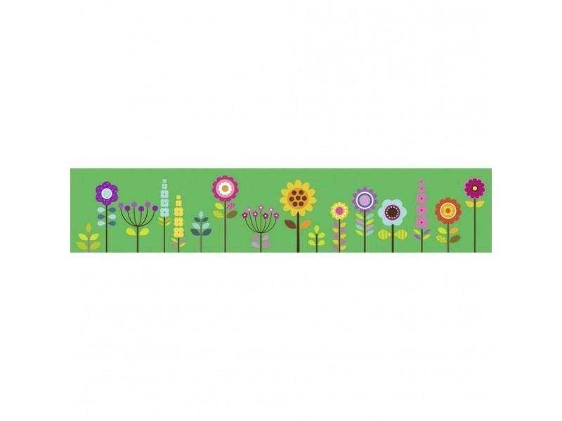 Brise vue 100% occultant fleurs 500 x 100 cm - canisse brise vent pour clôture de jardin