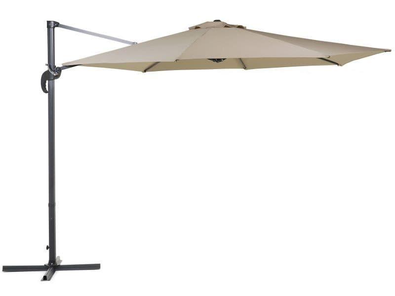Grand parasol de jardin beige sable ø 300 cm savona 33080