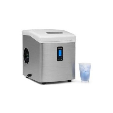 klarstein mr silver frost machine glacons 150w acier 13kg vente de klarstein conforama
