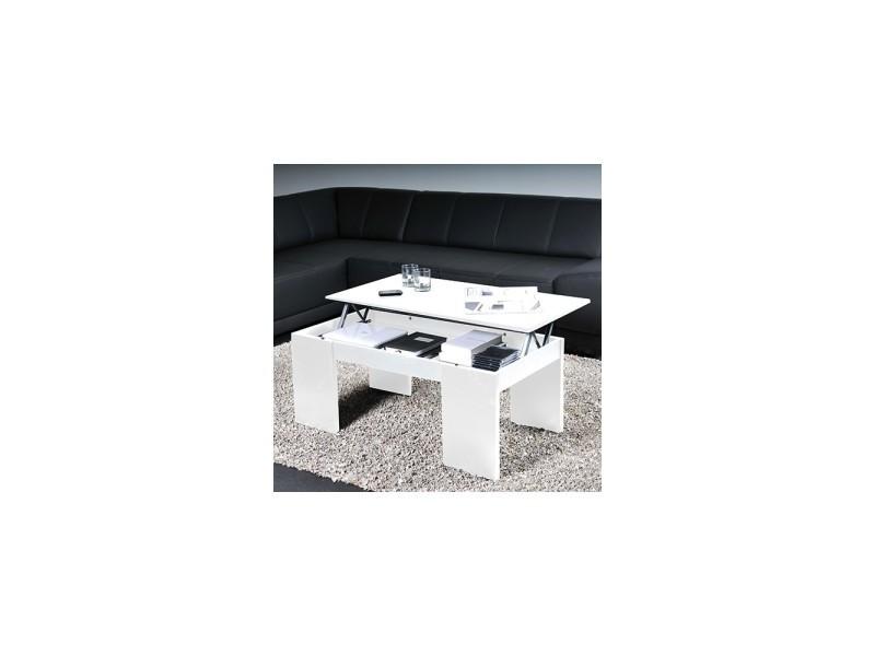 Table basse relevable bois blanc newton 02629