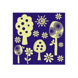 Sticker phosphorescent - arbres