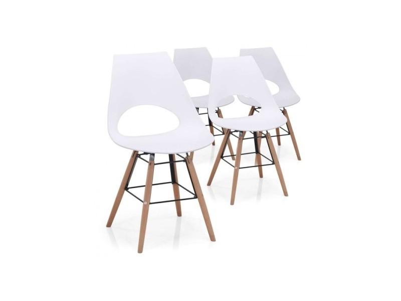 de chaises Paris scandinave lot 4 prix 4ALj5R