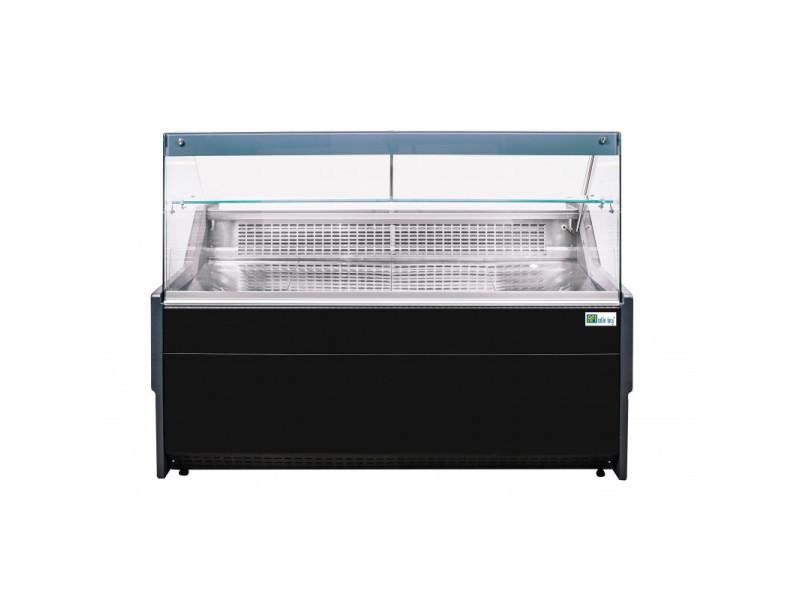 Vitrine réfrigérée horizontale noire vitre droite - l 1340 à 2590 mm - afi collin lucy - r290 1590 mm