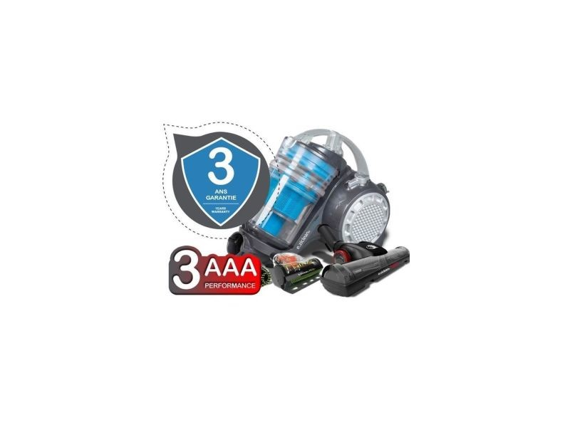 Eziclean turbo multifloors, aspirateur sans sac multi-cyclonique surequipe aaa EZI3760190142146