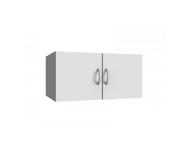 Surmeuble colonne de rangement lund blanc mat largeur 80 x 54 cm profondeur 20100890817