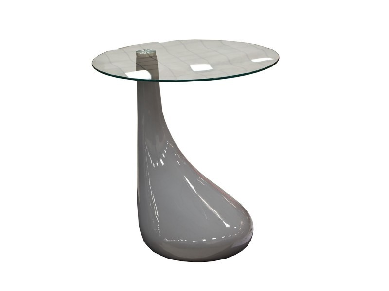 Table basse laquée design gris