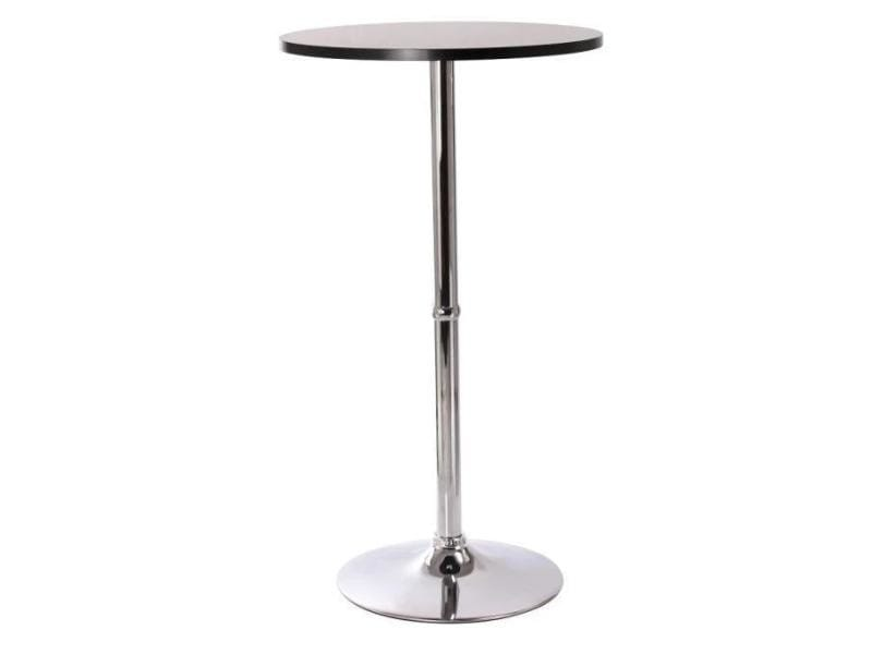 Superbe table haute mange debout bar bistrot bistrot mdf for Table haute conforama