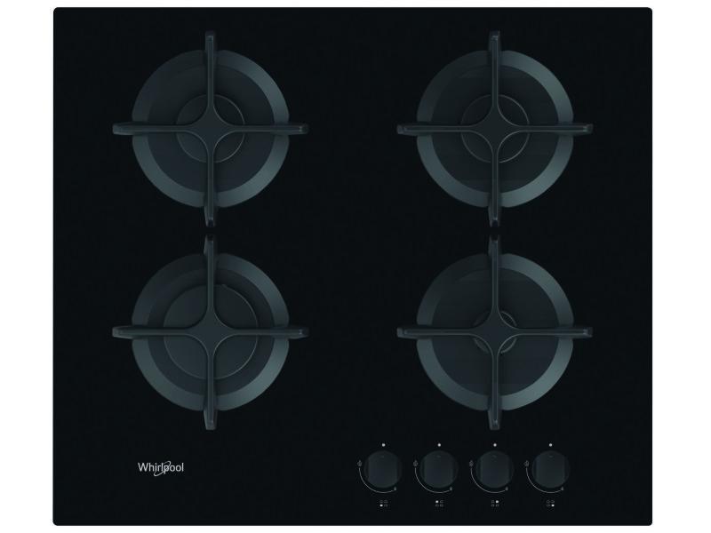 Plaque gaz dessus verre whirlpool gob 616 nb